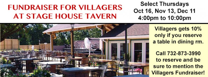 Fundraiser for Villagers at Stage House Tavern